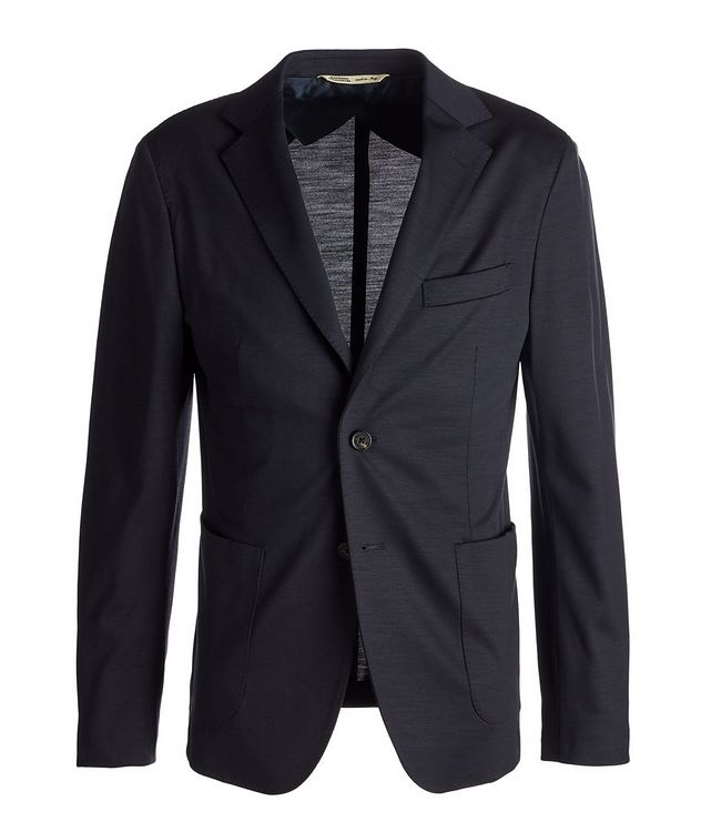 Unstructured Wool Jersey Sports Jacket picture 1