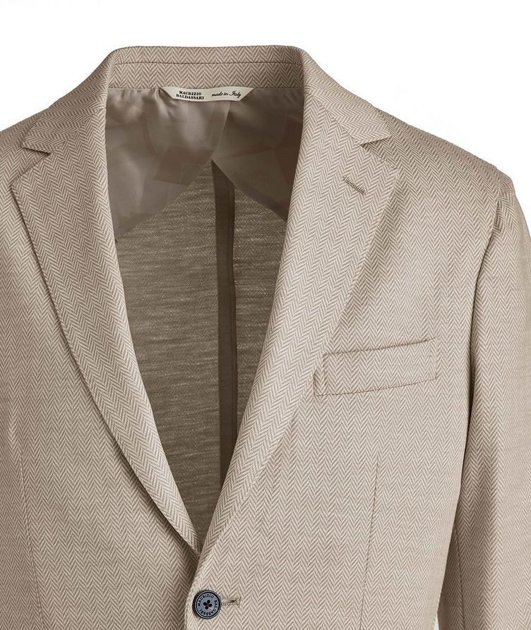 Brera Herringbone Wool Sports Jacket image 2