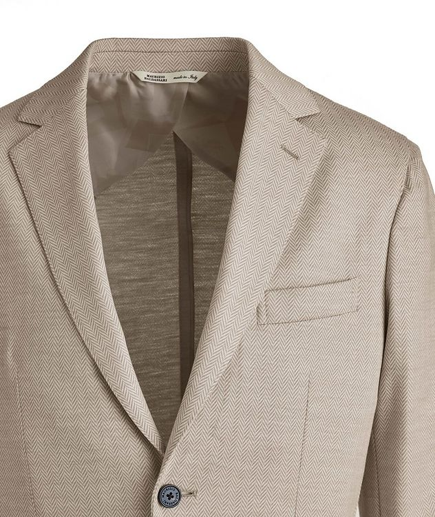 Brera Herringbone Wool Sports Jacket picture 3