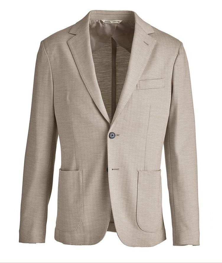 Brera Herringbone Wool Sports Jacket image 0