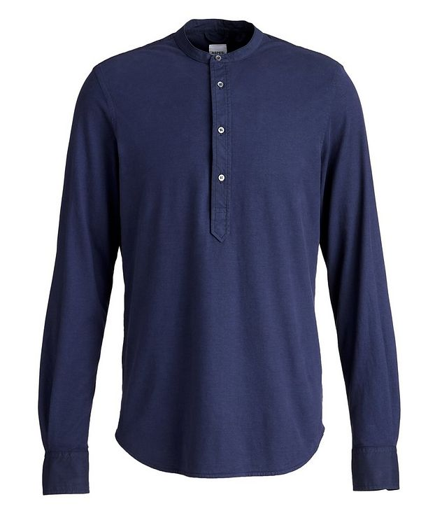 Slim-Fit Cotton Henley picture 1