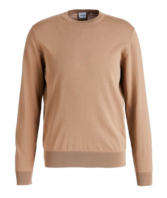 Slim-Fit Knit Cotton Sweater picture 1