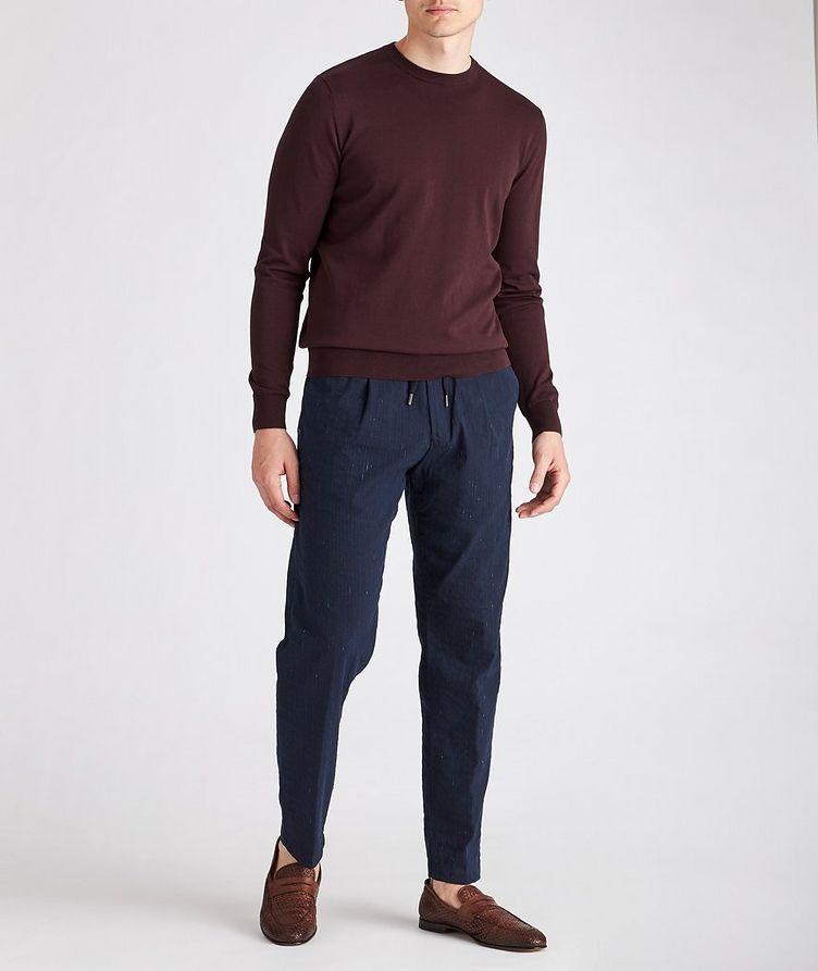 Slim-Fit Knit Cotton Sweater image 1
