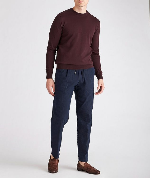 Slim-Fit Knit Cotton Sweater picture 2