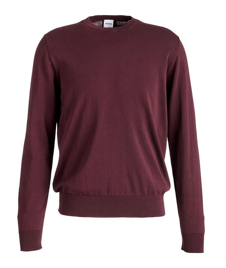 Slim-Fit Knit Cotton Sweater image 0