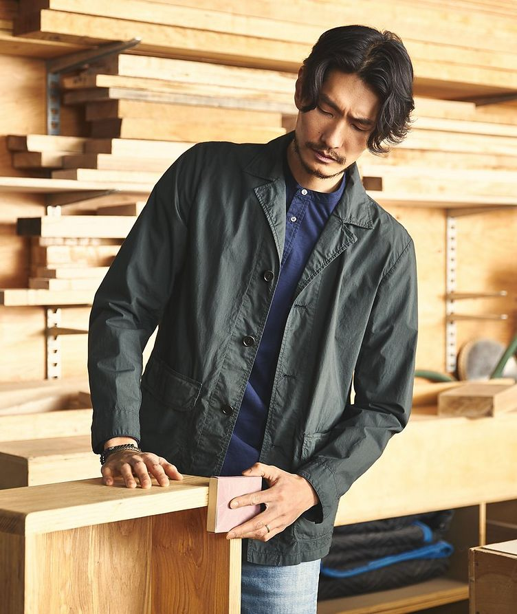 Unstructured Cotton Sports Jacket image 2