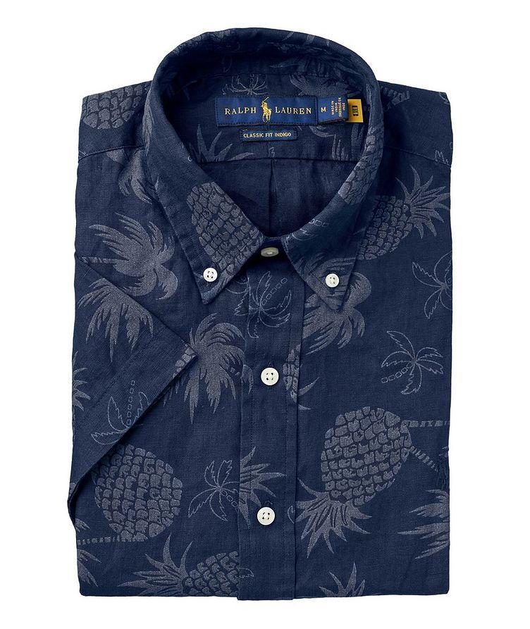 Short-Sleeve Tropical Linen Shirt image 0