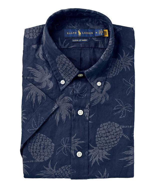 Short-Sleeve Tropical Linen Shirt picture 1
