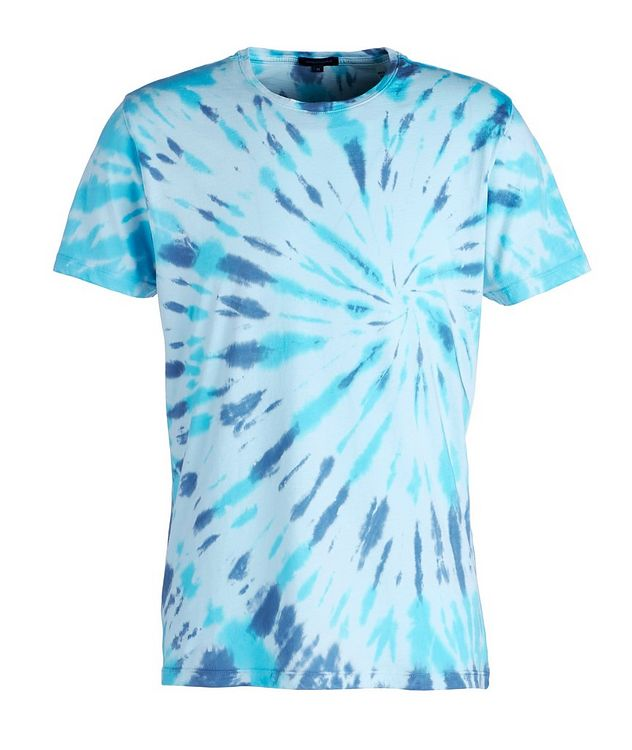 Tie-Dyed Stretch-Pima Cotton T-Shirt picture 1