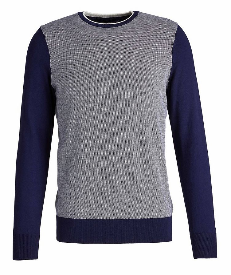 Cotton and Cashmere-Blend Knit Sweater image 0