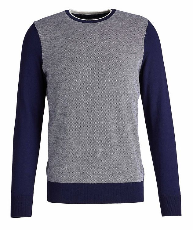 Cotton and Cashmere-Blend Knit Sweater picture 1