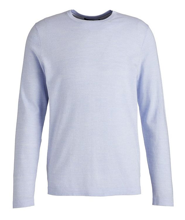 Cotton, Cupro, and Wool Knit Sweater picture 1