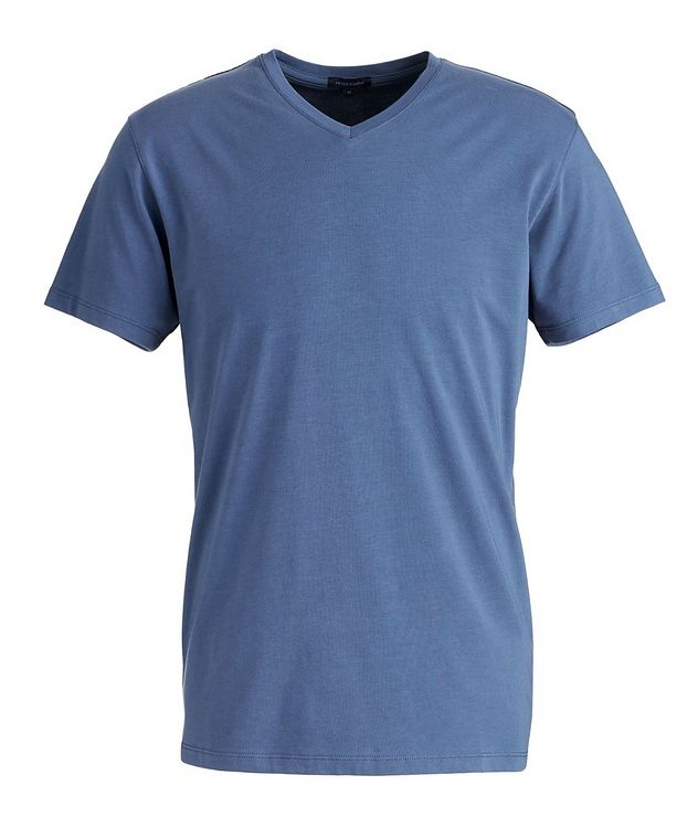 Stretch-Pima Cotton V-Neck T-Shirt picture 1