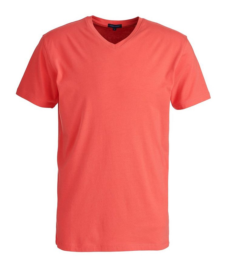Stretch-Pima Cotton V-Neck T-Shirt image 0