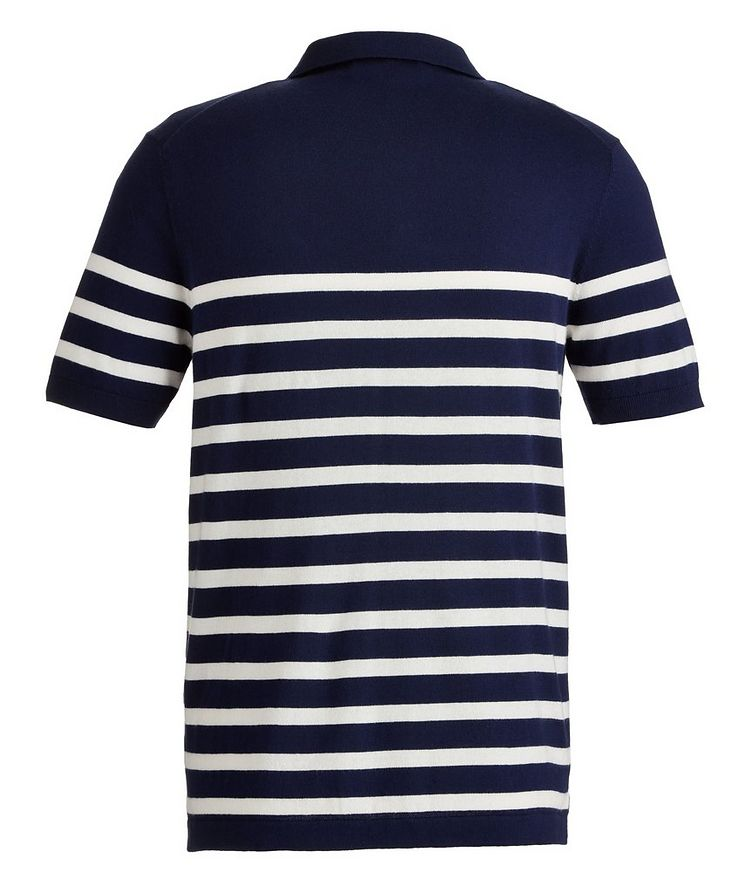 Striped Cotton and Cashmere-Blend Knit Polo image 1