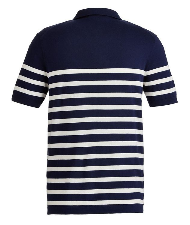 Striped Cotton and Cashmere-Blend Knit Polo picture 2