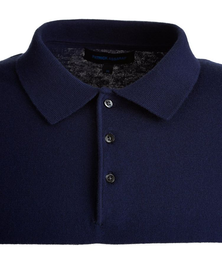 Striped Cotton and Cashmere-Blend Knit Polo image 2