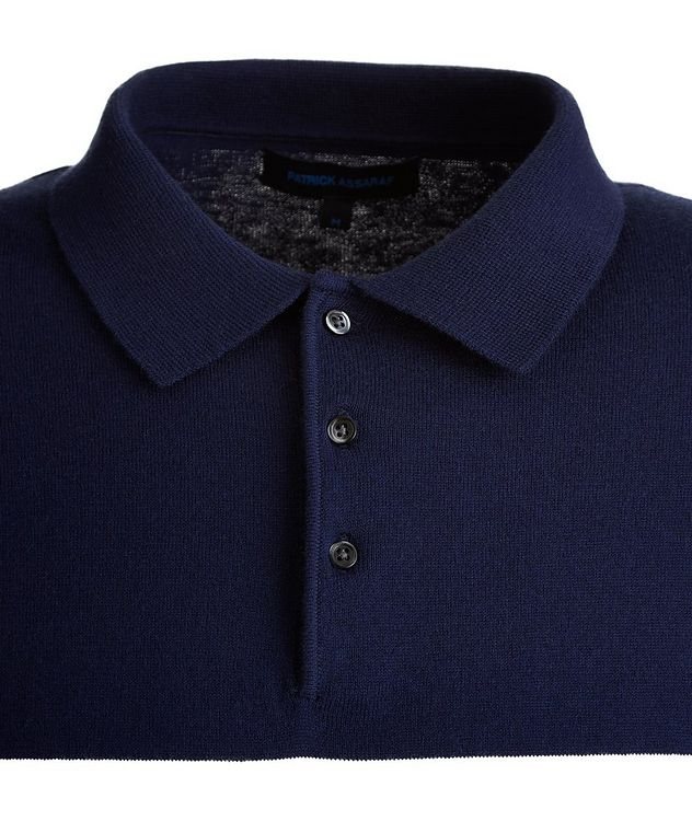 Striped Cotton and Cashmere-Blend Knit Polo picture 3