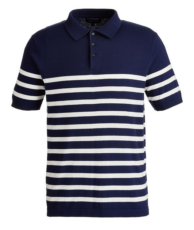 Striped Cotton and Cashmere-Blend Knit Polo picture 1