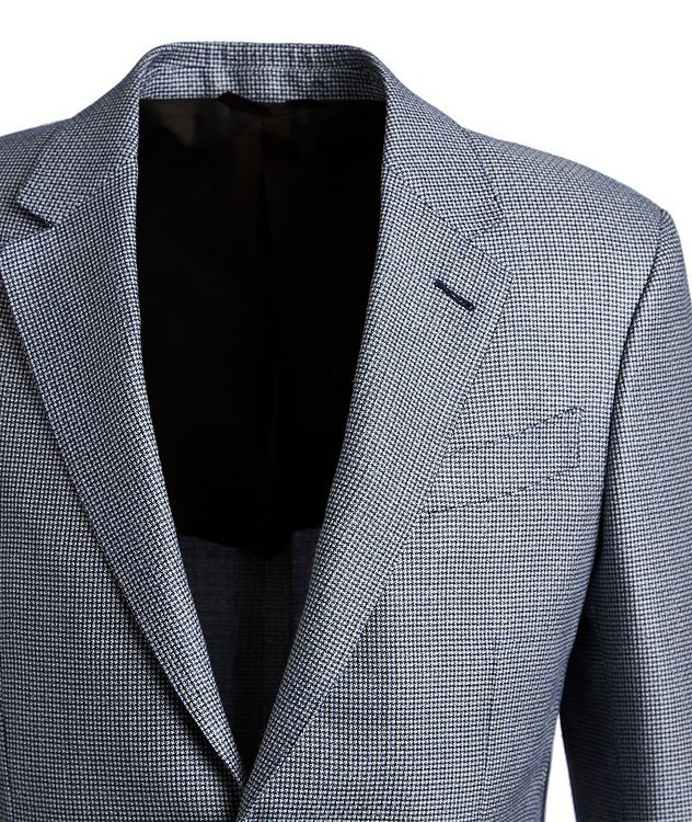 Houndstooth Silk, Wool, and Linen Sports Jacket picture 2