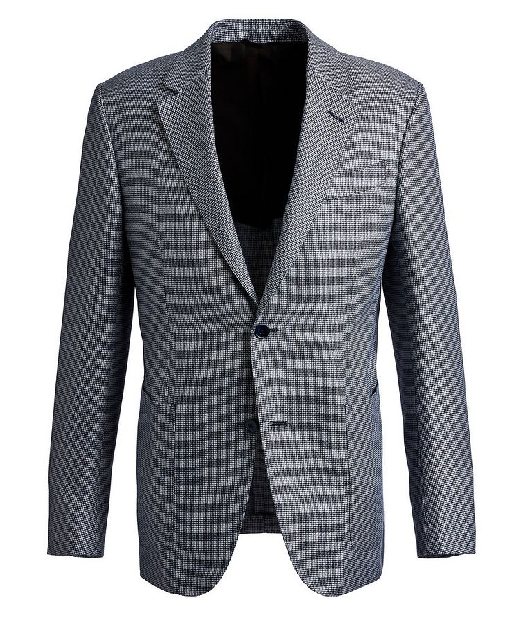 Houndstooth Silk, Wool, and Linen Sports Jacket image 0