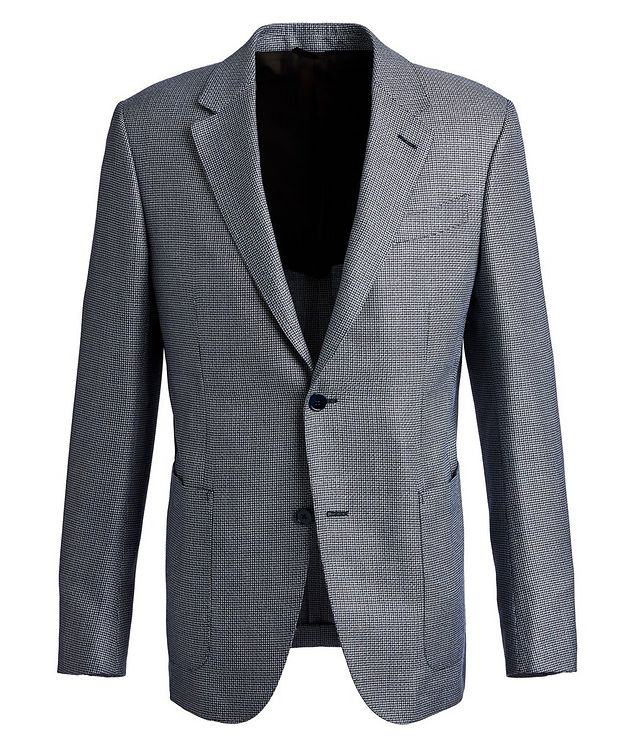 Houndstooth Silk, Wool, and Linen Sports Jacket picture 1