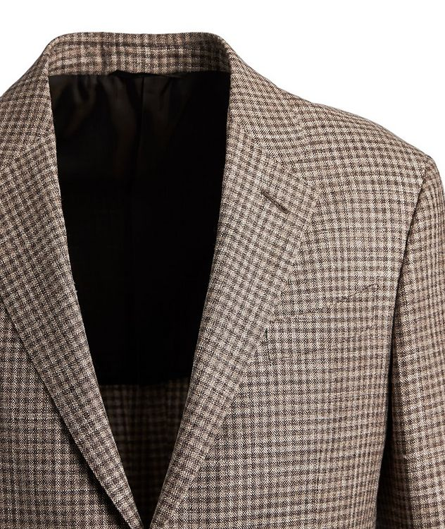 Gingham Wool, Silk, and Linen Sports Jacket picture 2