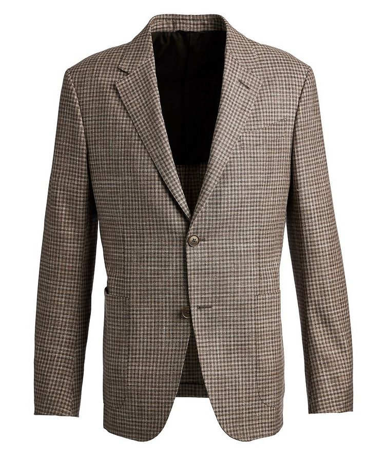 Gingham Wool, Silk, and Linen Sports Jacket image 0