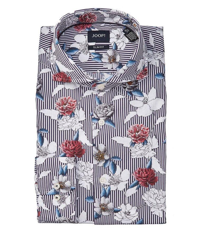 Slim-Fit Printed Cotton Shirt image 0