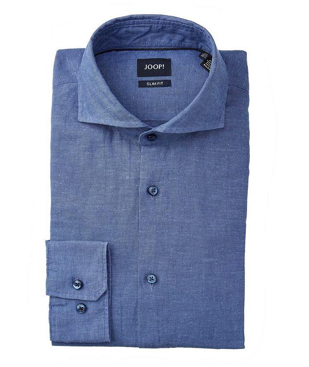 Slim-Fit Pejos Linen-Cotton Shirt picture 1