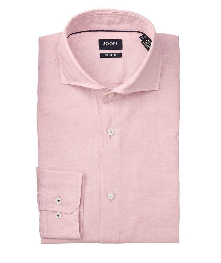 Slim-Fit Pejos Linen-Cotton Shirt image 0