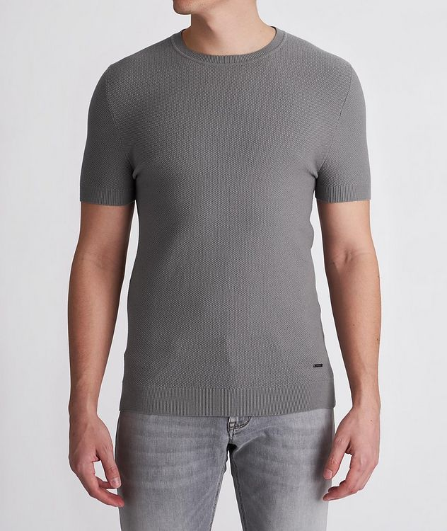 Valdrin Knit Cotton-Blend T-Shirt picture 2