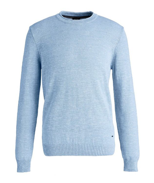 Cotton and Linen-Blend Sweater picture 1