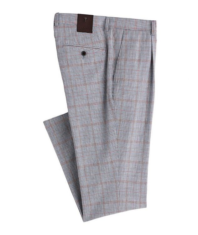 Hajo Slim-Fit Stretch-Cotton-Linen Dress Pants picture 1