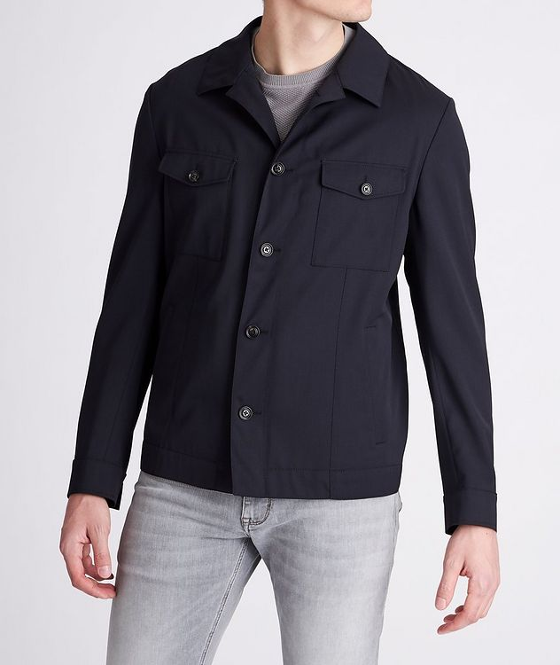 Hearts Slim-Fit Stretch Overshirt picture 2