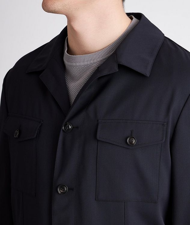 Hearts Slim-Fit Stretch Overshirt picture 4
