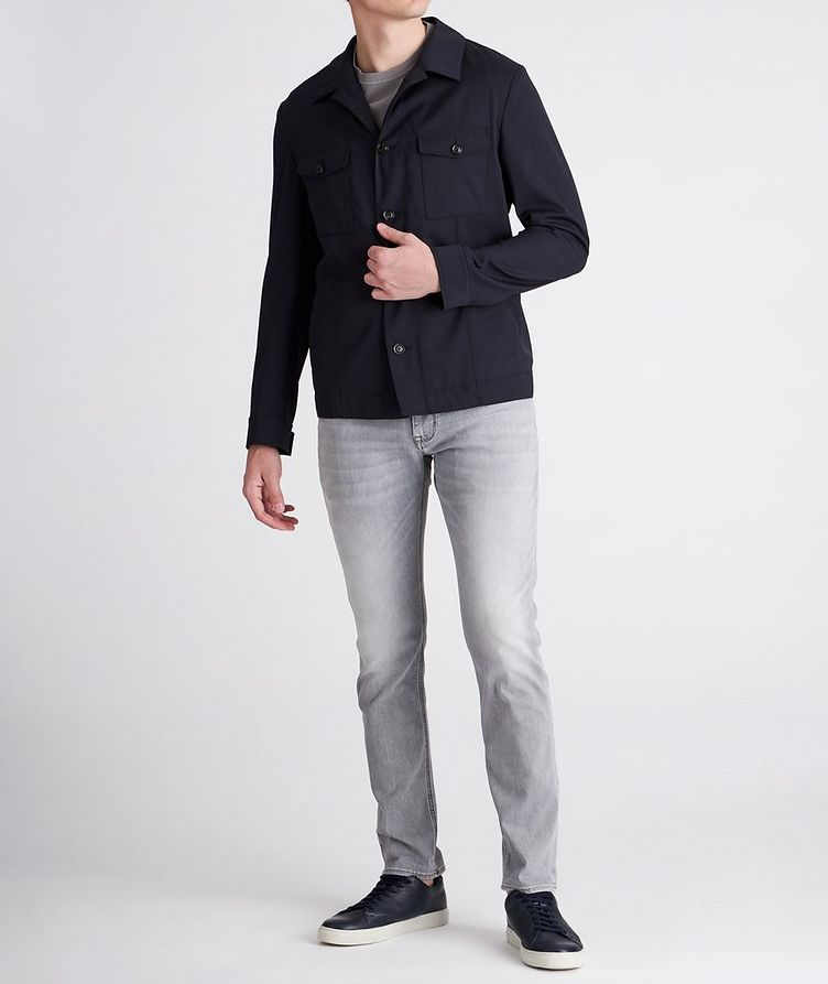 Hearts Slim-Fit Stretch Overshirt image 4