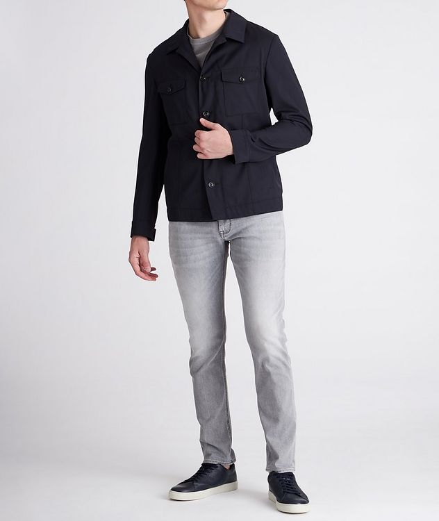 Hearts Slim-Fit Stretch Overshirt picture 5