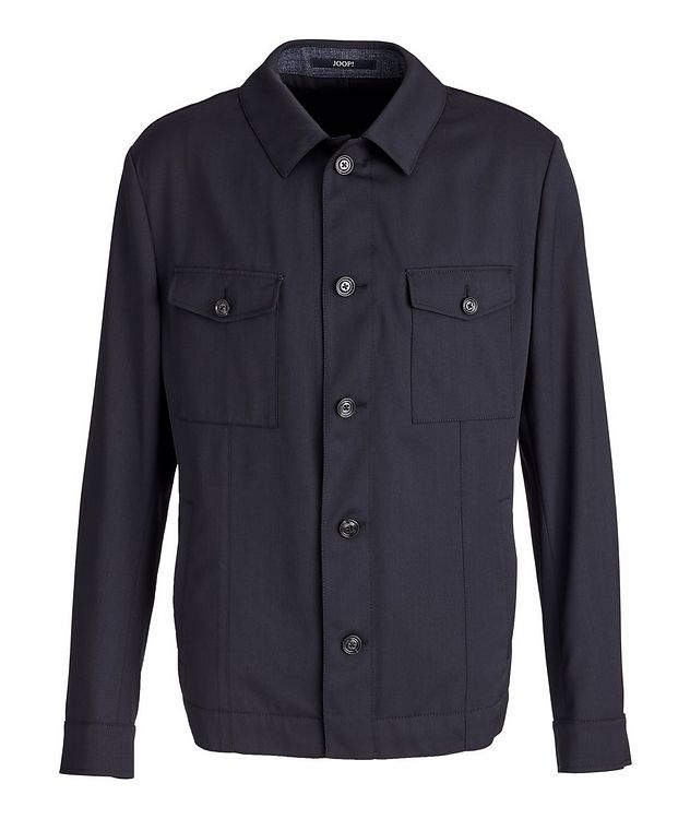 Hearts Slim-Fit Stretch Overshirt picture 1