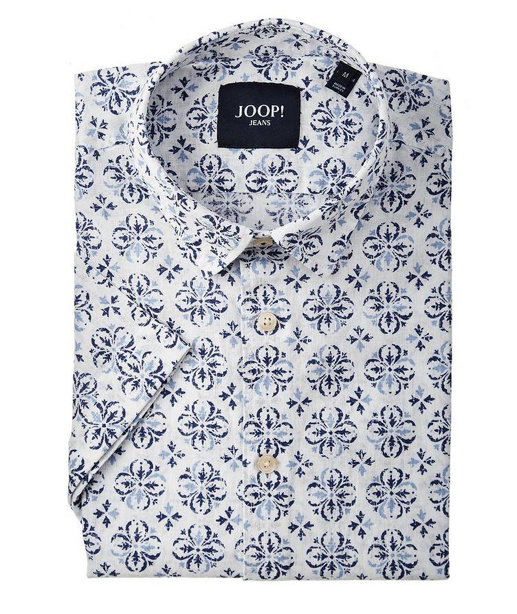 Chemise Harry en lin et coton à manches courtes image 0