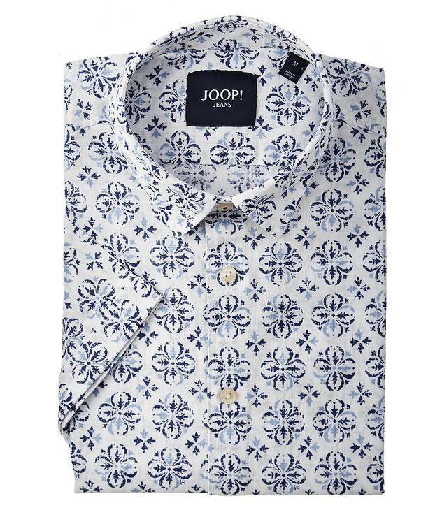Chemise Harry en lin et coton à manches courtes picture 1