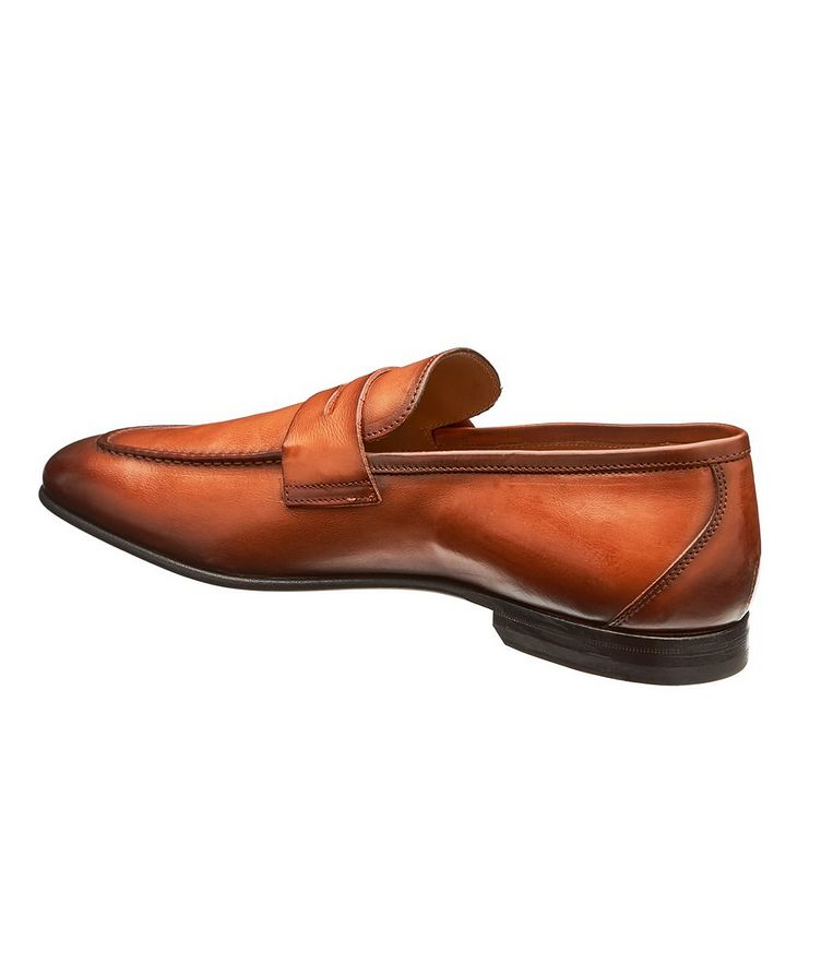 Burnished Leather Loafers image 1