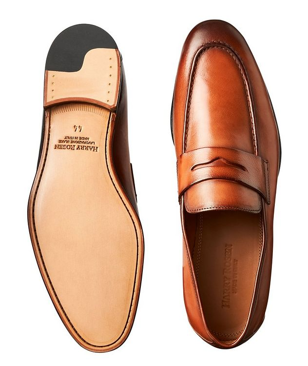 Burnished Leather Loafers picture 3