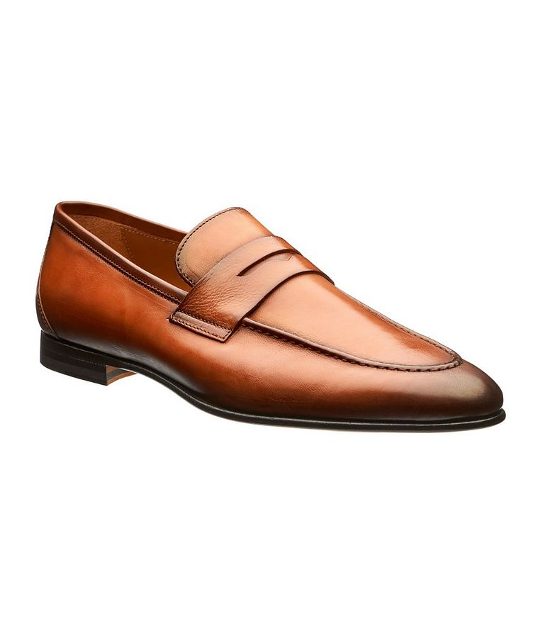 Burnished Leather Loafers image 0