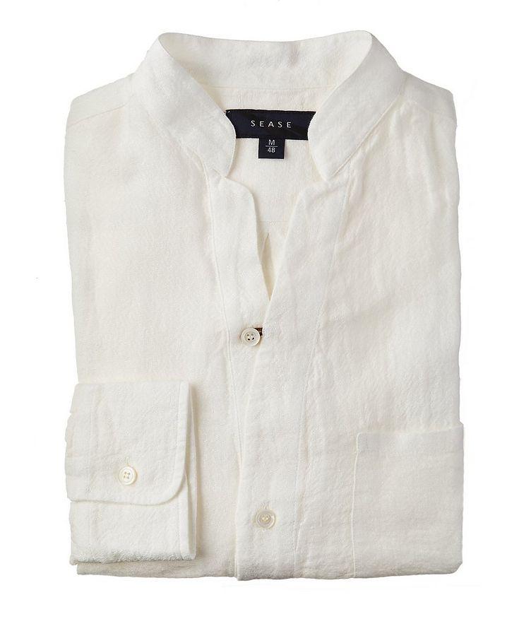 Fish Tail Long-Sleeve Linen Shirt image 0