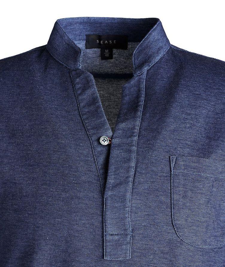 V-Neck Cotton Piqué Henley image 1