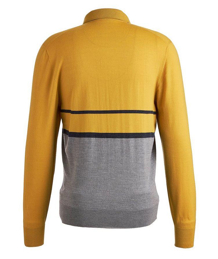 Long-sleeve Merion Wool Polo image 1