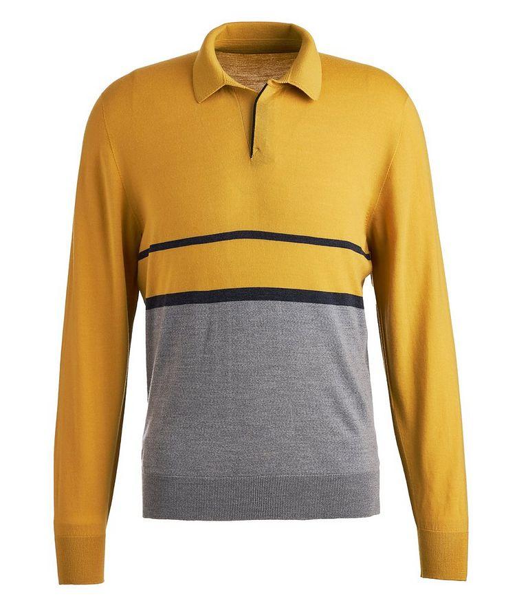 Long-sleeve Merion Wool Polo image 0