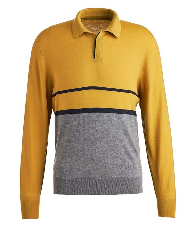 Long-sleeve Merion Wool Polo picture 1