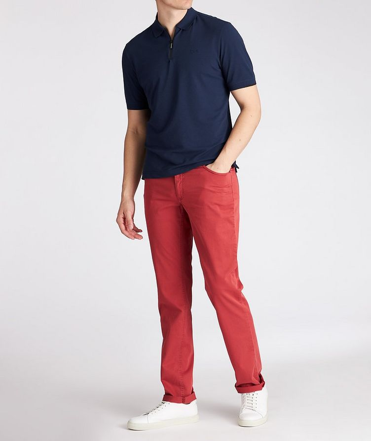BRX LAB Percy Stretch Cotton-Blend Polo image 2